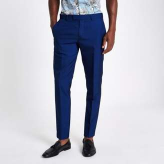 River Island Bright blue skinny fit suit pants