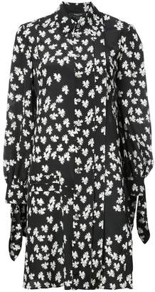 Derek Lam Long Sleeve Shirtdress with Pleat Detail