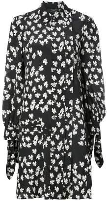 Derek Lam Long Sleeve Shirtdress with Pleat Detail