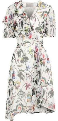 Jason Wu Wrap-Effect Floral-Print Silk-Georgette Dress