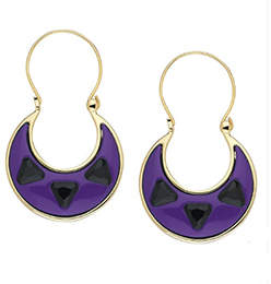 House Of Harlow Deco Earrings Purple