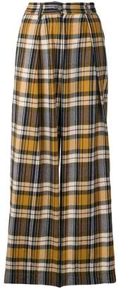 Forte Forte plaid wide leg trousers