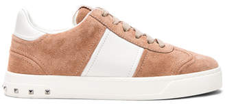Valentino Suede Fly Crew Sneakers