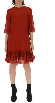 See by Chloe Pleated Detail Drop Waist Dress