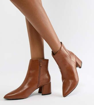 Park Lane Wide Fit Block Heel Ankle Boots