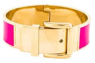 Michael Kors Wide Enamel Buckle Bracelet