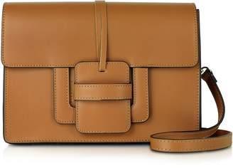 Le Parmentier Cognac Leather Shoulder Bag
