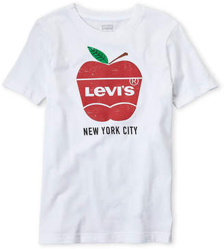 Levi's Boys 8-20) White Big Apple Tee