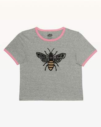Juicy Couture Mind Your Own Beesness Ringer Tee for Girls