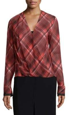 Rag & Bone Victor Plaid Drape Blouse