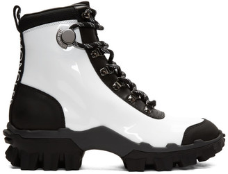 Moncler White and Black Helis Boots