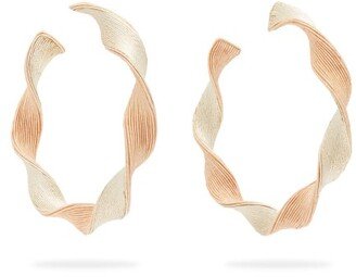 Rebecca De Ravenel Penelope Twisted Hoop Earrings - Womens - Gold