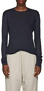 Rick Owens Women's Cotton Long-Sleeve T-Shirt - Navy