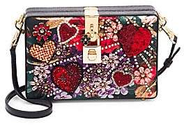 Dolce & Gabbana Women's Dolce Embellished Leather Box Clutch