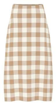 Jil Sander Checked knit midi skirt