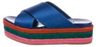 Miu Miu Espadrille Flatform Sandals w/ Tags