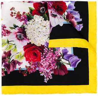 Dolce & Gabbana classic floral square scarf
