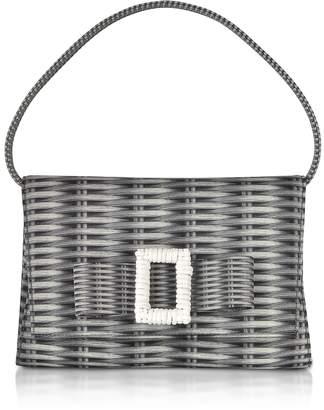 Rodo Printed Neoprene and Leather Mini Bow Bag