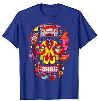 Floral Skull Flower Death Street Style Men Women T shirt