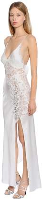 Ermanno Scervino Lace & Silk Satin Night Gown Style Dress