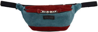 Master-piece Co Burgundy and Blue Revise Waterproof Waist Pouch