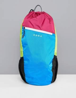 Asos 4505 running backpack in neon color block