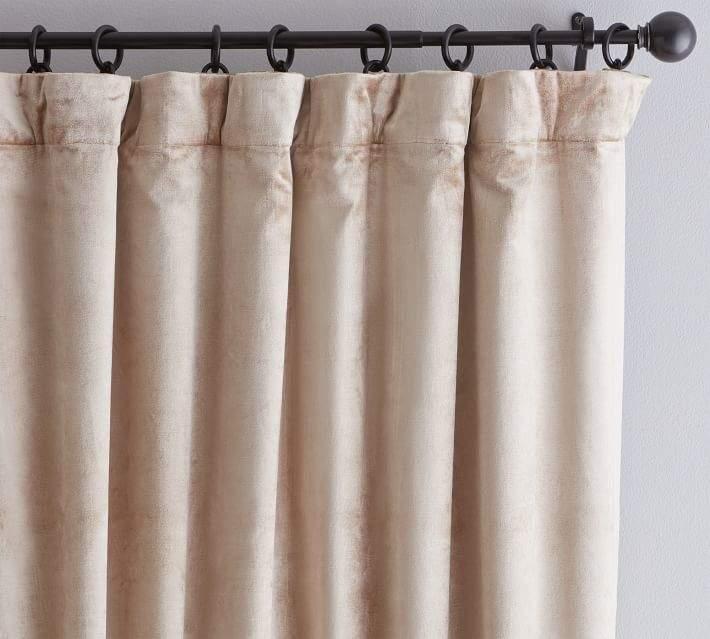Shiny Velvet Drape - Parchment