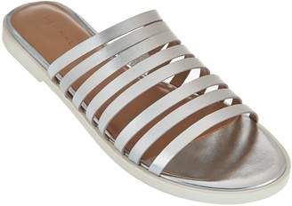 Halston H By H by Strappy Leather Flat Slide - Cora