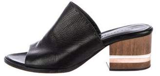 Dear Frances Leather Slide Sandals