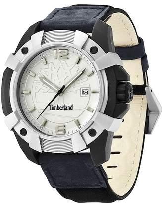 Timberland Men's Chocorua Leather Strap Watch, 44mm
