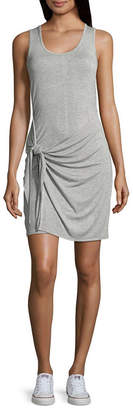 Almost Famous Sleeveless Wrap Dress-Juniors