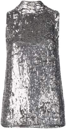 P.A.R.O.S.H. sequinned tie neck top