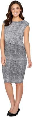 Halston H By H by Regular Printed Jet Set Jersey Cap Sleeve Dress