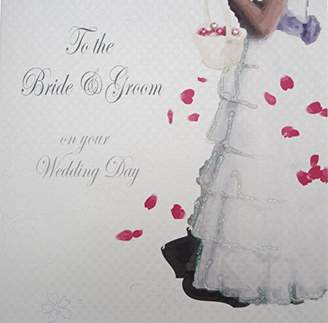 DAY Birger et Mikkelsen WHITE COTTON CARDS Code PS2 To The Bride & Groom On Your Wedding Handmade Wedding Card