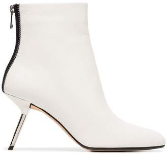 Ballin Alchimia Di white Narcis 80 leather ankle boots