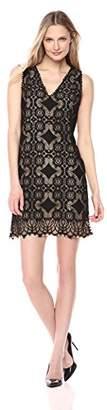 Lark & Ro Amazon Brand Women's Sleeveless Lace Knit Dress