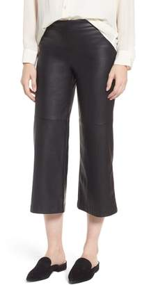 David Lerner Varick Wide Leg Faux Leather Culottes