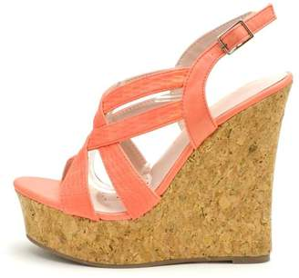 De Blossom Collection Strappy Color Wedges