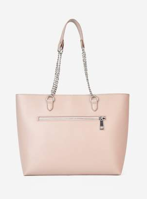 Dorothy Perkins Womens Blush Zip Front Shopper Bag
