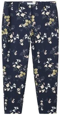 Violeta BY MANGO Flowers cotton trousers