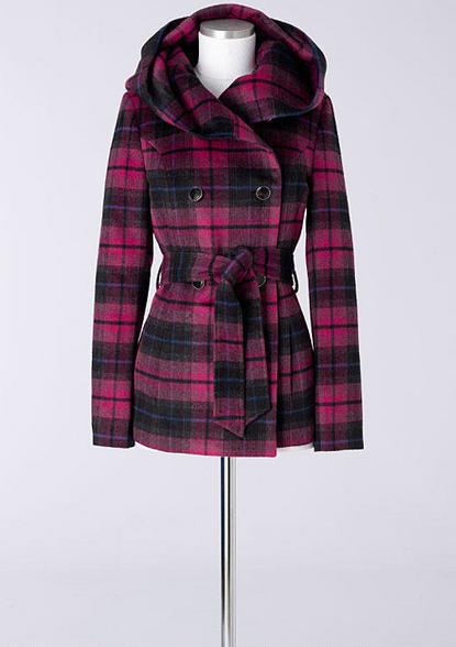 Delia's Oversized Hood Belted Coat