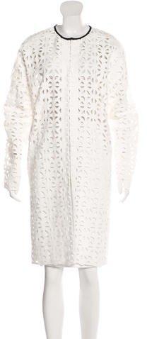 MSGM Long Crochet Coat