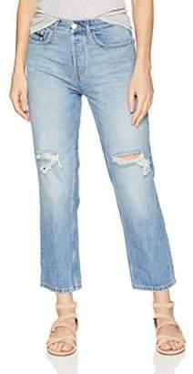 Calvin Klein Jeans Women's HIGH Rise Straight Crop Denim Destructed