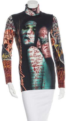 Jean Paul Gaultier Printed Turtleneck Top $145 thestylecure.com