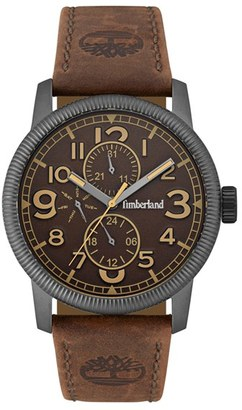 Timberland 'Erving' Multifunction Leather Strap Watch, 44Mm $179 thestylecure.com