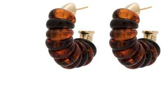 Ellery gold resin Gertrude Jumpring earring