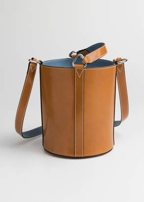 And other stories Structured Leather Bucket Bag