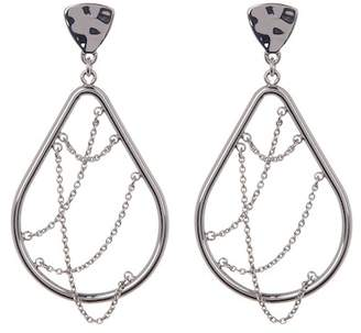 BaubleBar Teardrop Chain Hoop Earrings