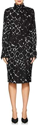 Marc Jacobs Women's Abstract-Print Silk Midi-Dress