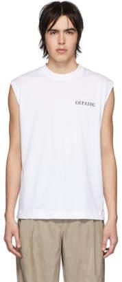 Serapis White Sleeveless T-Shirt